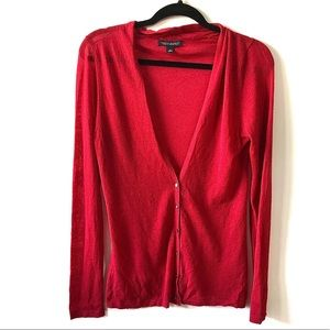 Banana Republic Red Button Down Cardigan